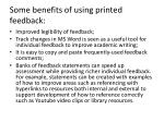 some benefits of using printed feedback