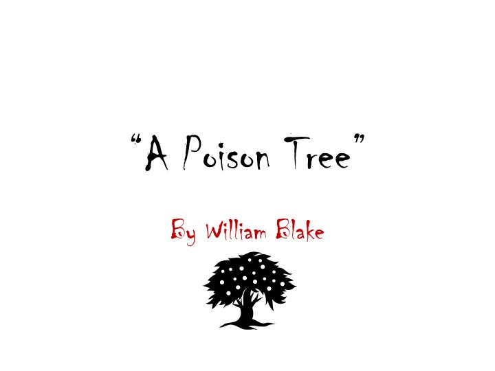 a poison tree n.