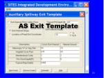 as exit template