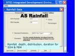 as rainfall