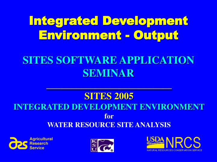 integrated development environment output n.