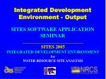 integrated development environment output