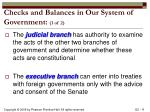 checks and balances in our system of government 1 of 2