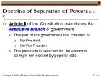 doctrine of separation of powers 2 of 3