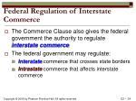 federal regulation of interstate commerce