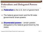 federalism and delegated powers 1 of 2