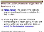 state and local government regulation of business 1 of 2