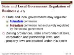 state and local government regulation of business 2 of 2