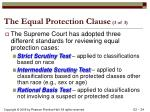 the equal protection clause 3 of 3