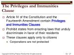 the privileges and immunities clause