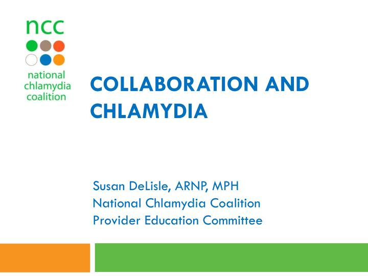 collaboration and chlamydia n.