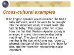 cross cultural examples1
