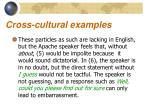 cross cultural examples11