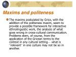 maxims and politeness6