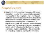 pragmatic errors1