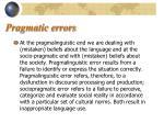 pragmatic errors11