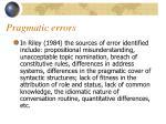 pragmatic errors15