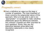 pragmatic errors6