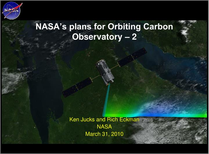 nasa s plans for orbiting carbon observatory 2 n.