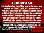 1 samuel 14 1 3