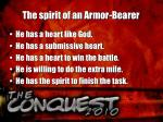 the spirit of an armor bearer1