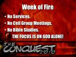 week of fire