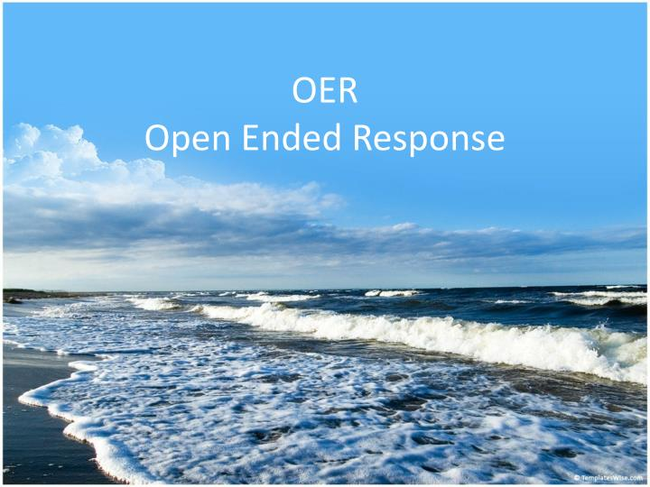 oer open ended response n.