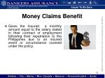 money claims benefit