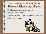 increasing communication between schools and homes