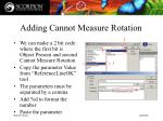 adding cannot measure rotation