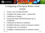 configuring of scorpion robot vision system