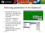 selecting parameters to be displayed