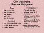 our classroom classroom management
