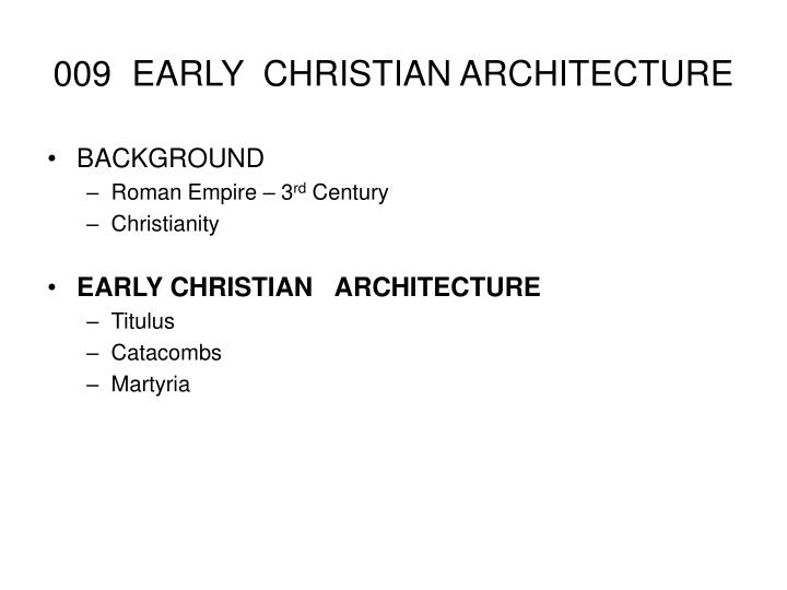 009 early christian architecture n.