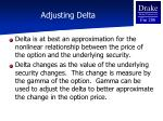 adjusting delta
