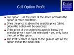 call option profit