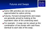 futures and swaps