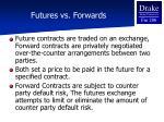 futures vs forwards