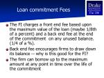 loan commitment fees