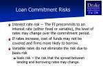loan commitment risks