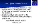 put option intrinsic value