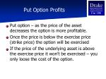 put option profits