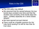 risks in the cds