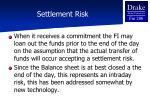 settlement risk1