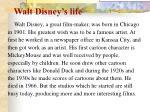 walt disney s life