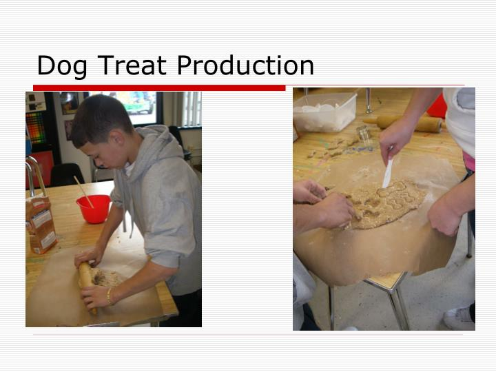 dog treat production n.