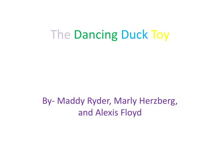 the dancing duck toy n.