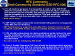 rfc comments draft community standard ese rfc 0084