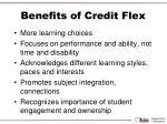 benefits of credit flex