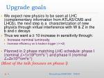 upgrade goals